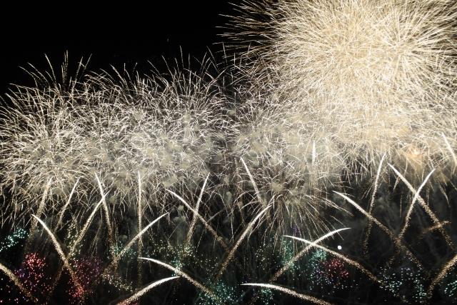 石巻川開き祭り花火