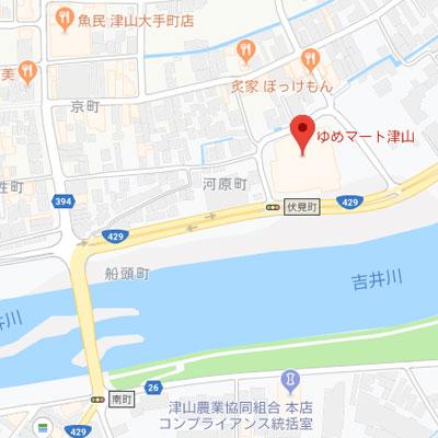 ゆめマート津山の地図