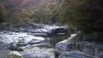奥津渓景観